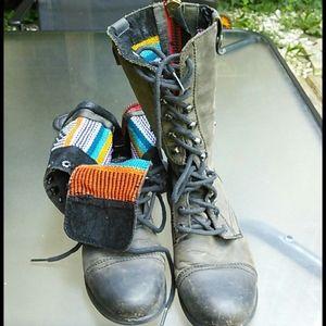 Rainbow Steve Madden boots